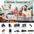 """[WiFi Projector] QKK Upgraded 6000Lumens Projector, Full HD 1080P Supported Mini Projector [Tripod Included], Max 200"""" Display, Smartphone/HDMI/AV/USB/TF/Sound Bar/TV Stick Supported"""