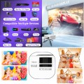 """QKK 2021 Upgraded 6500Lumens Mini Projector, Full HD 1080P & 200"""" Display Supported, Portable Movie Projector Compatible with Phone, TV Stick, PS4, HDMI, AV, Dual USB [Tripod Included]"""